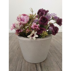 Blumenübertopf aus Beton