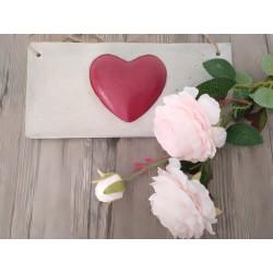 Herz in Herz Schild