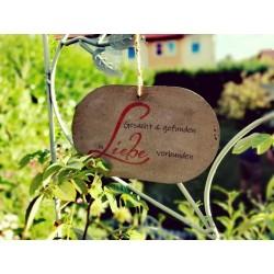 Schild In Liebe verbunden