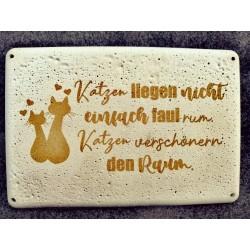 DIY Betondeko Schild Katze...