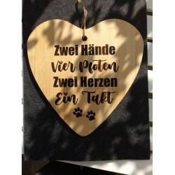 """Holzherz """"ein Takt"""